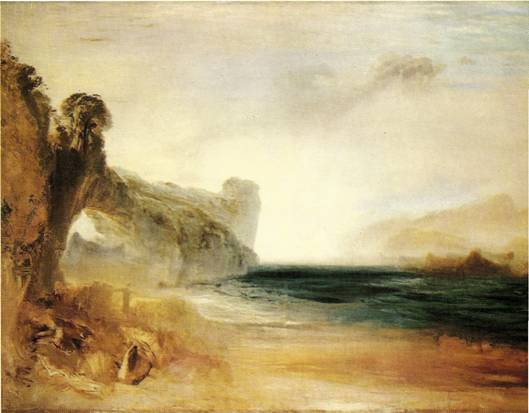 Turner Joseph Mallord William: Skalnatá zátoka, kolem 1830, 90 x 123 cm