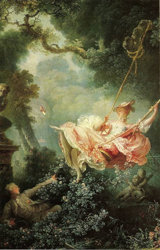 Fragonard Jean-Honoré: Houpačka, 1767, 81 x 65 cm (London, Wallace Collection)