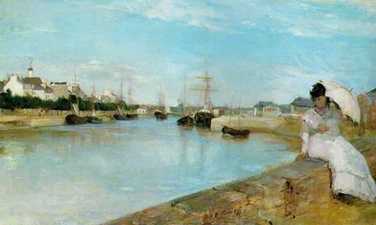 Morisotová berthe: přístav v lorientu, 1869, 44 x 73 cm