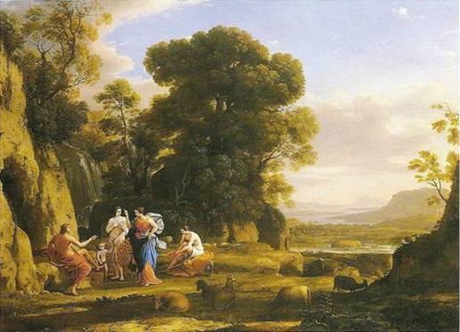Lorrain claude: paridův soud, 1645-1646, 112 x 150 cm