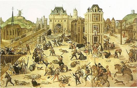 Vraždění hugenotů o bartolomějské noci - z 23. na 24. srpna 1572