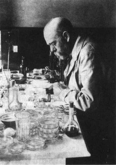 Robert Koch v laboratoři