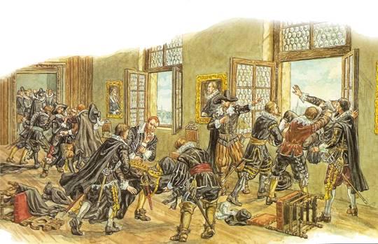 Výsledek obrázku pro pražská defenestrace 1618